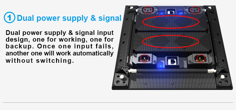 Glux TVsn curve LED display screen--dual power supply