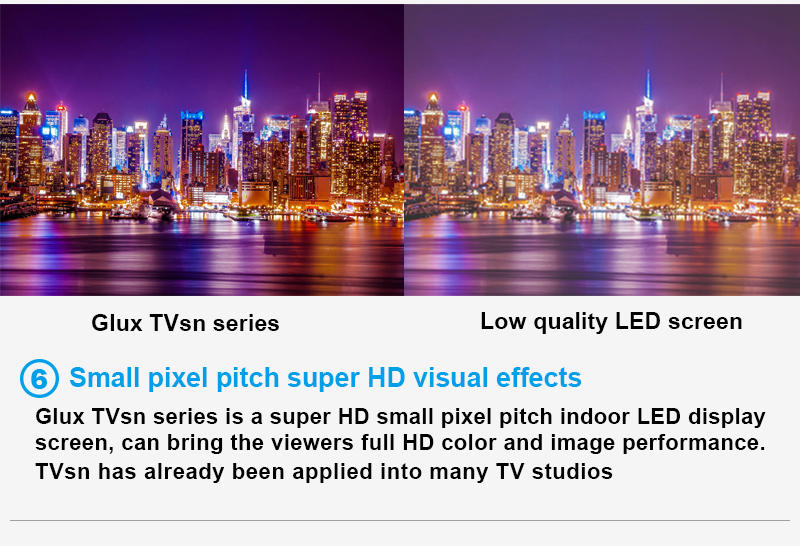 Glux TVsn indoor LED screen--small pixel pitch super HD visual effects
