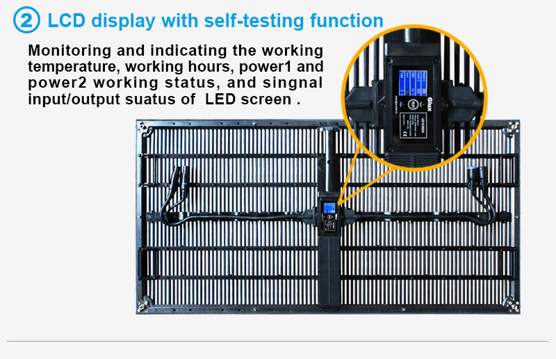 Glux MOtn series--LCD display with self-testing function