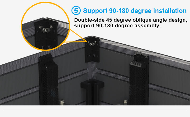 Glux ODsn support 90-180 degree installation