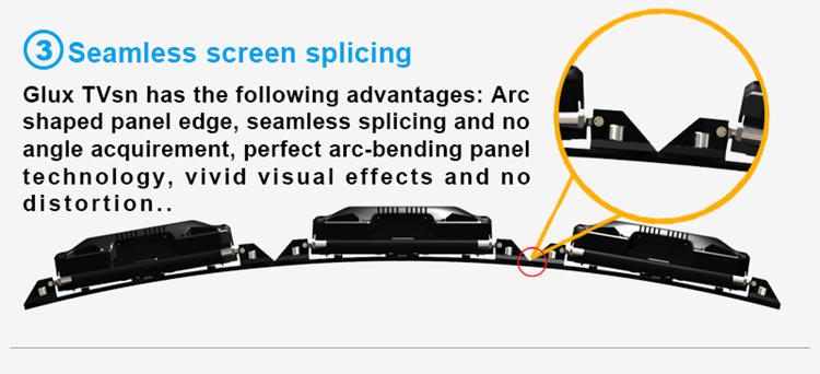 Glux indoor LED screen--seamless screen splicing