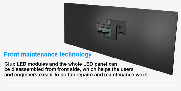 Glux LED P3.9 LED display screen--front maintenance technology