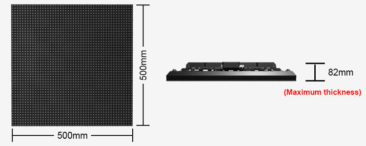 Glux SEfl series LED stage floor size