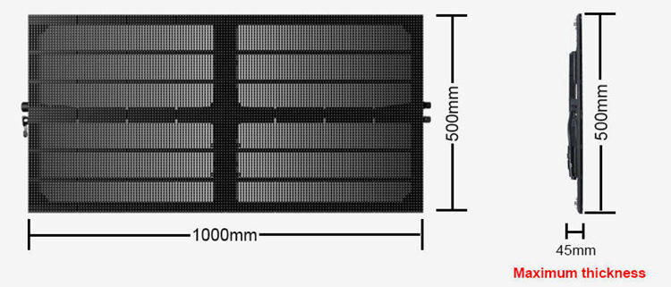 Glux BAtn series LED display screen size