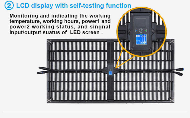 Glux BAtn series P6.9 outdoor LED display--LCD display with self-test function