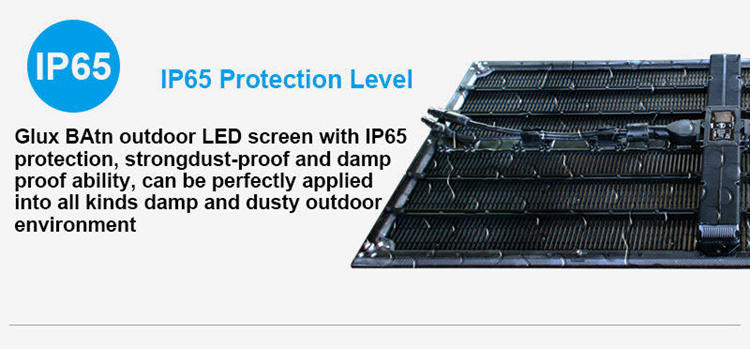 Glux BAtn transparent LED screen--IP65 protection