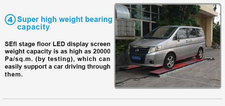 Glux LED P5.2mm stage floor screen--high weight bearing capacity