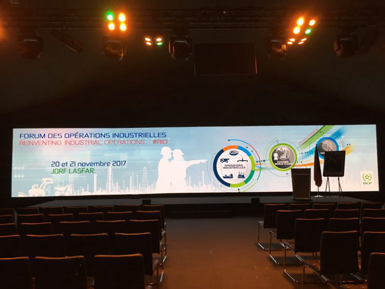 Glux LED project--Forum des Operations Industrielles at Morocco