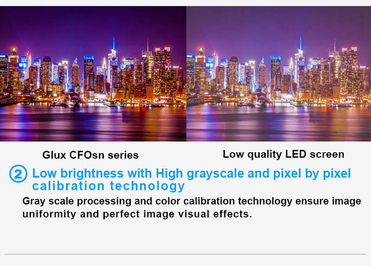 Glux LED CFOsn series--low brightness with high gray scale