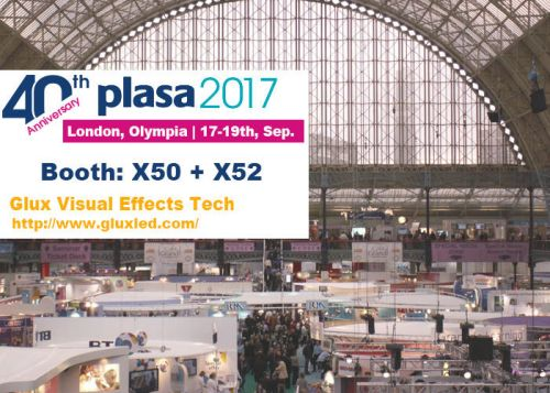 Glux Invite All Friends Come to Visit Booth X50+X52 on 2017 PLASA Show